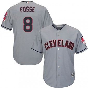 Authentic Cleveland Indians Ray Fosse Majestic Cool Base Road Jersey - Gray