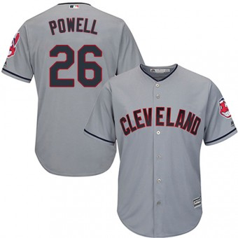 Replica Cleveland Indians Boog Powell Majestic Cool Base Road Jersey - Gray